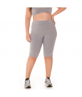Ciclista Plus Size Básica Cotton